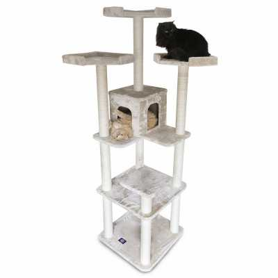 Casita 80 Inch Faux Fur Cat Gym