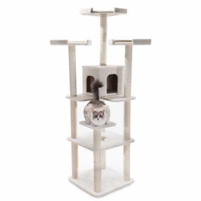 Bungalow 80 Inch Faux Sheepskin Cat Gym