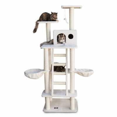 Bungalow 72 Inch Faux Sheepskin Cat Gym