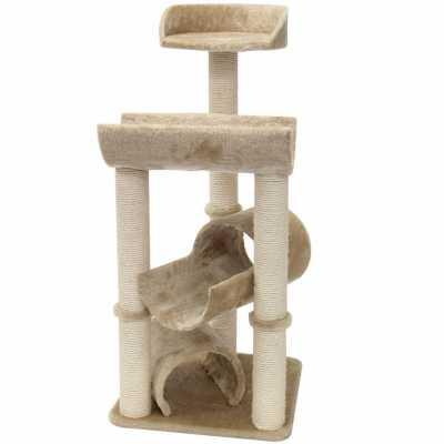 Casita 44 Inch Faux Fur Cat Tree