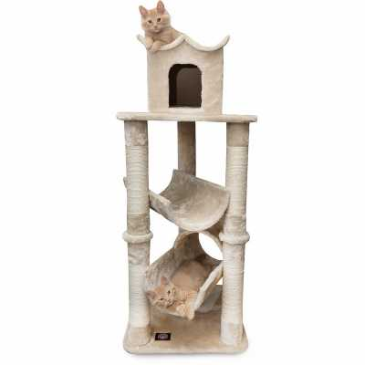 Casita 47 Inch Faux Fur Cat Gym