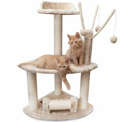 Casita 36 Inch Faux Fur Cat Tree
