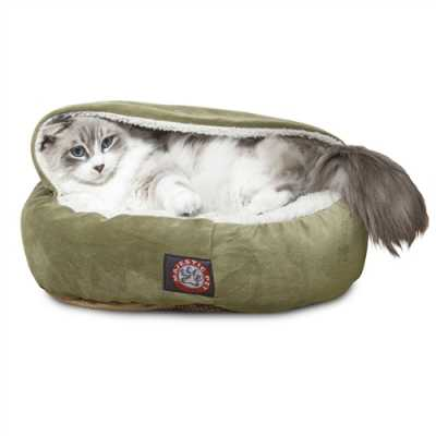 18 Inch Micro-velvet Canopy Cat Bed