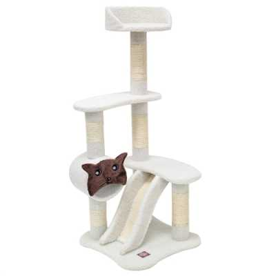 Bungalow 47.5 Inch Faux Sheepskin Cat Tree