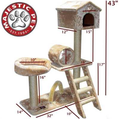 Casita 43 Inch Faux Fur Cat Tree