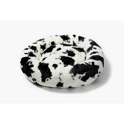 Black and White Cow Donut Cat Bed