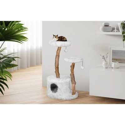 Allaboo Luxury Wood 2 Tier Cat Tree