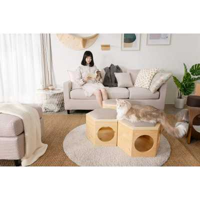 Busy Cat Floor Cat Modular Unit + Chair Plate Cushion