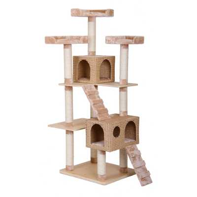 Towers Cat Gym with Woven Basket Condos