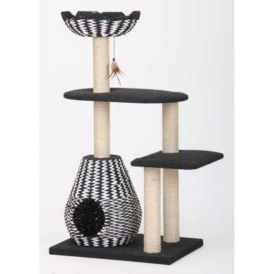 Ace Cat Tree with Woven Baskets
