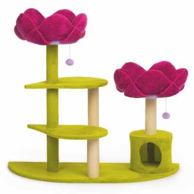 Pink Lotus Flower Garden Multi Tier Cat Tree 7324