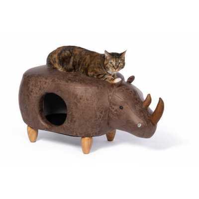 Rhinocerous Ottoman Cat Condo Bed 7391