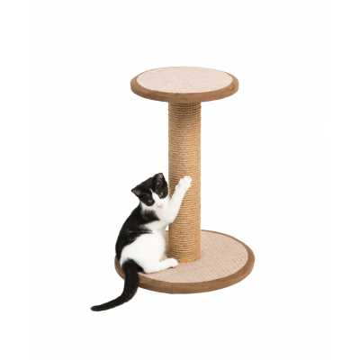 Cats Town Round Sisal Scratching Post with Platform