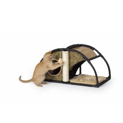 Cats Town Condo with Scratcher Leopard Print 7200