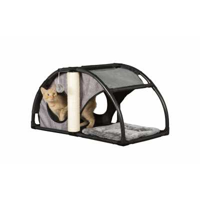 Cats Town Condo with Scratcher Gray 7201