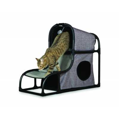 Cats Town Loft with Scratcher Gray 7221