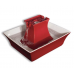 Drinkwell Pagoda Ceramic Pet Fountain - Red
