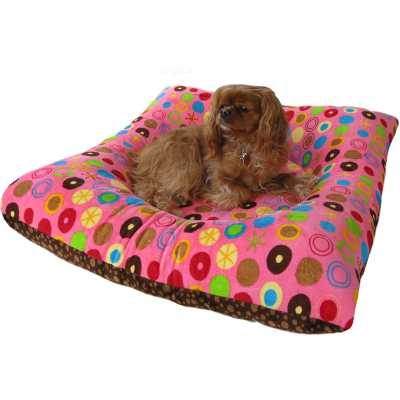 Hugger Square  - Pink Bubbles and Galaxy Bubbles Pet Bed