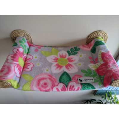 Cat Hammock - Wall Mounted Cat Bed - Feline Floral