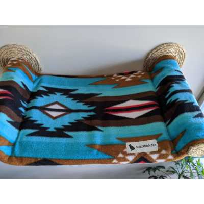 Cat Hammock - Wall Mounted Cat Bed - Southwest