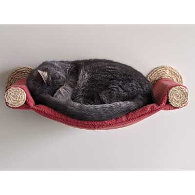 Cat Hammock - Wall Mounted Cat Bed - Brick Red