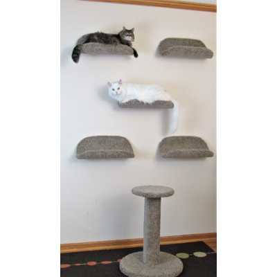 The Scoop Carpeted Cat Wall Shelf Bed