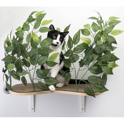Canopy Cat Wall Shelves with Leaves - Set of (2) Image