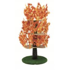 Luxury Cat Tree (Large) - Round Base w Fall - Orange Leaves - CT031