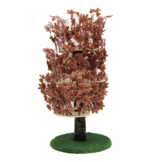 Luxury Cat Tree (Large) - Round Base w Autumn - Purple Leaves - CT031