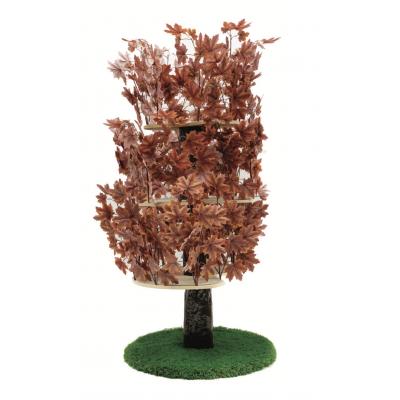 Luxury Cat Tree (Large) - Round Base w Autumn - Purple Leaves - CT021