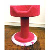 Pink Ribbon Hypranest Deluxe Cat Tree - Carpet
