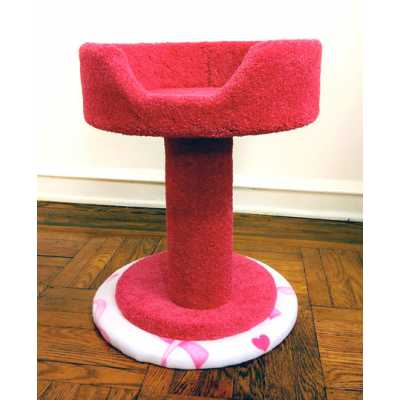 Pink Ribbon Hypranest Deluxe Cat Tree - Carpet