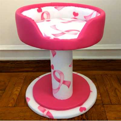 Pink Ribbon Hypranest Deluxe Cat Tree - with Vinyl