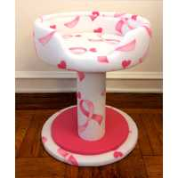 Pink Ribbon Hypranest Deluxe Cat Tree - with Vinyl II