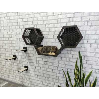 Cat Wall Bed + 2 Hexagons + 3 Steps