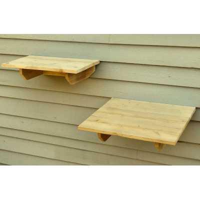 Outdoor Cedar Cat Wall System: Perch