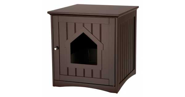 Wooden Cat Toilet Litterbox Cabinet - Brown