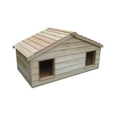 Small Duplex Cedar Insulated Double Decker Cat House