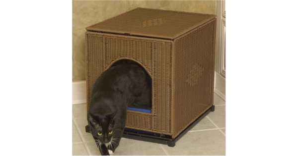 Wicker Litter Box Cover Catsplay Superstore