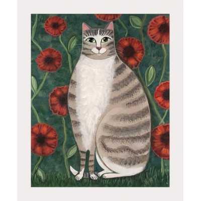 Poppy Cat Art Print