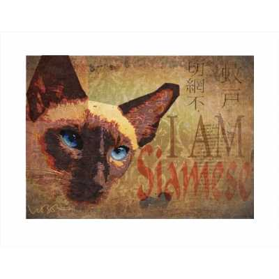 I am Siamese Cat Art Print