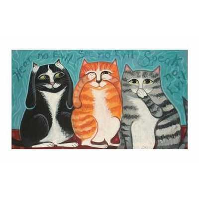 See No Evil Cats Art Print