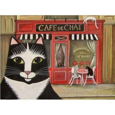Cafe de Chat Paris Kitty Art Print