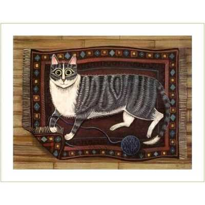 Oriental Rug Kitty Art Print