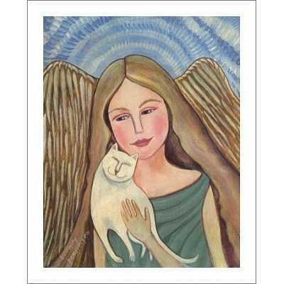 Cat Angel Art Print