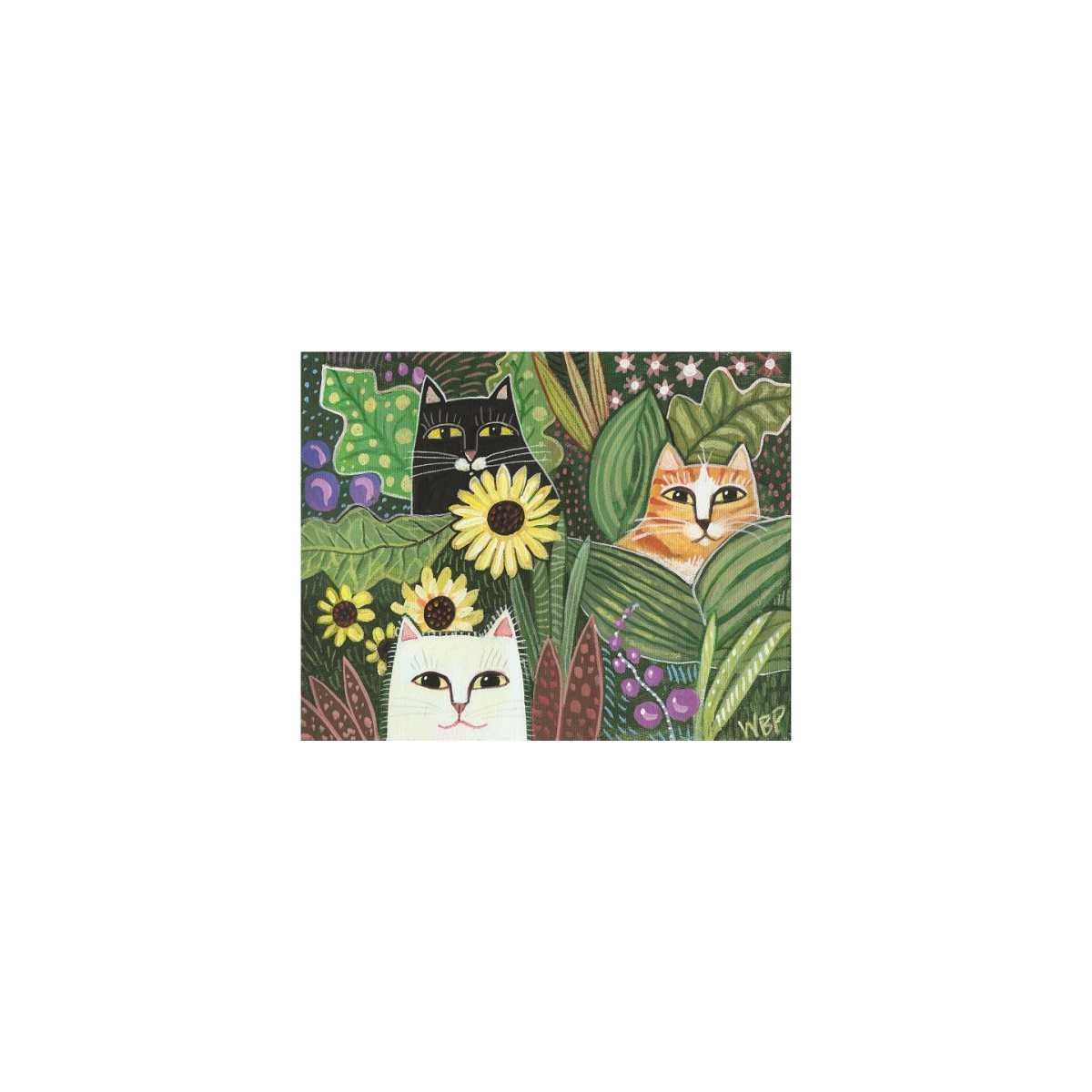 Patchwork Cats Art Print