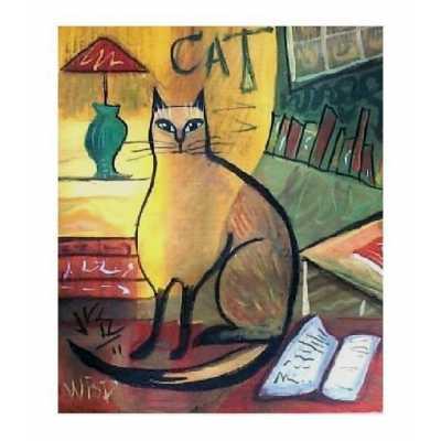 Literary Kitty Art Print