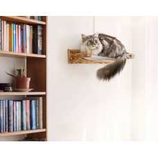 Solid Wood Wall Mounted Cat Perch