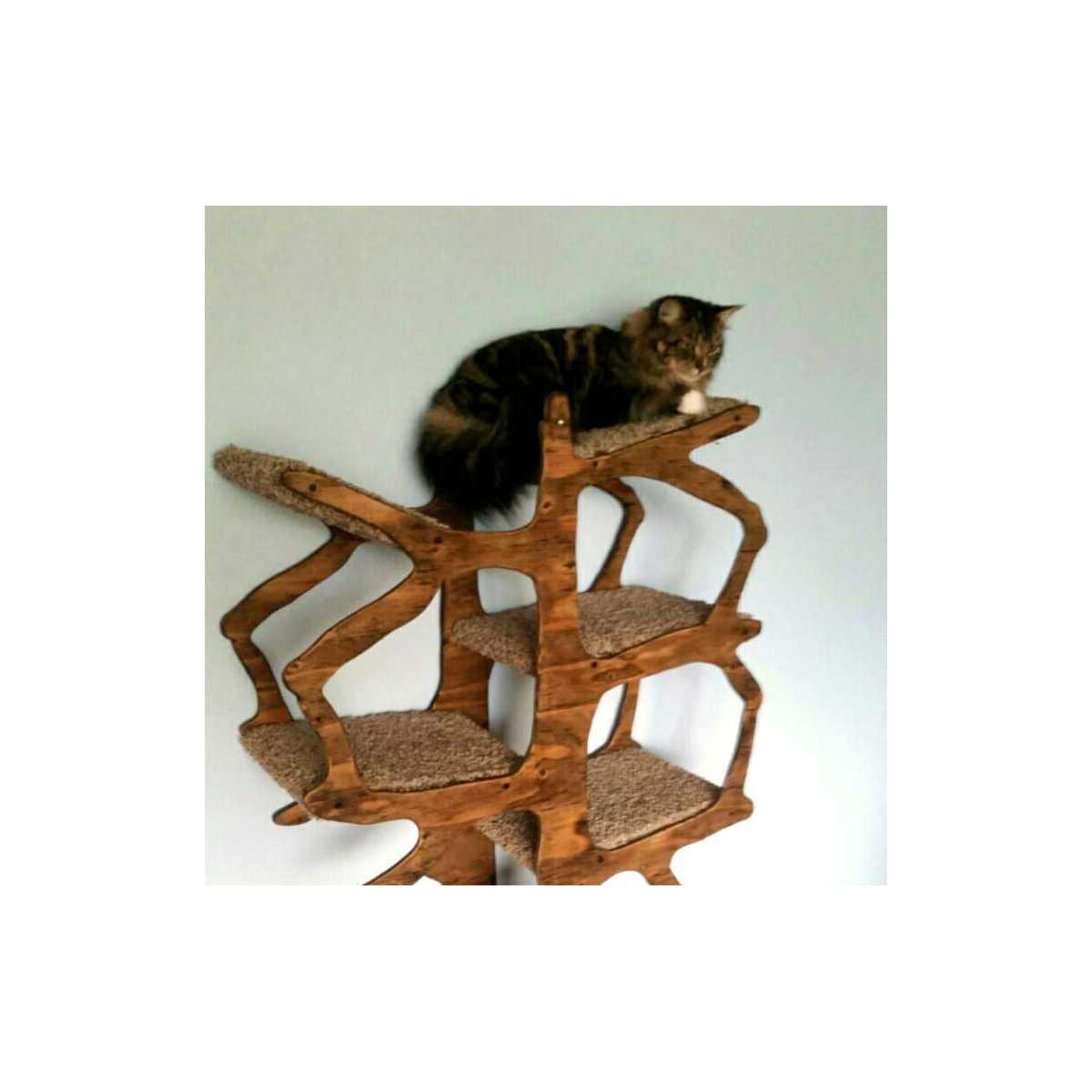 Fantastic Whimsical Artisan Handmade Cat Tree CA09