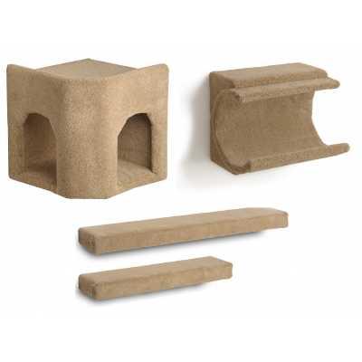 Kitty Corner Hideaway + Cradle + 2 Ramps Cat Wall Climbing Package